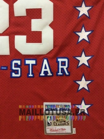 Maillot NBA Pas Cher - Maillot NBA 1989 All Star NO.23 Michael Jordan Rouge