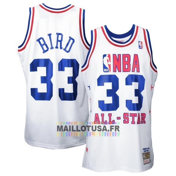 Maillot NBA Pas Cher - Maillot NBA 1990 All Star NO.33 Larry Joe Bird Blanc