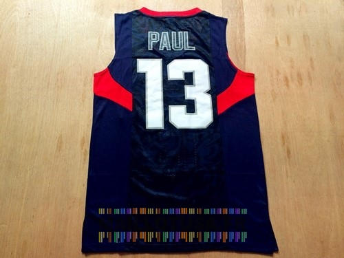 Maillot NBA Pas Cher - Maillot NBA 2008 USA NO.13 Chris Paul Noir