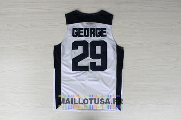 Maillot NBA Pas Cher - Maillot NBA 2012 USA NO.29 Paul George Blanc