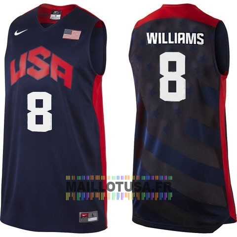 Maillot NBA Pas Cher - Maillot NBA 2012 USA NO.8 Williams Noir