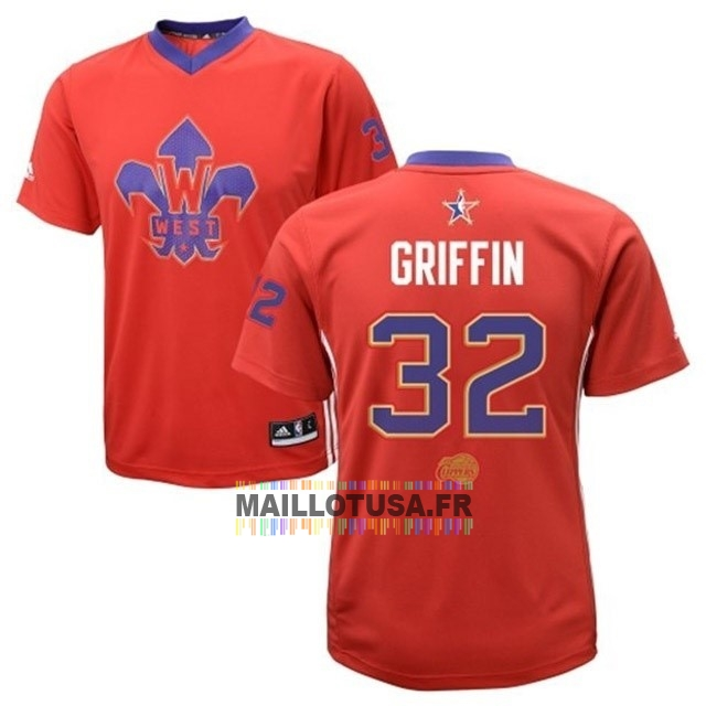 Maillot NBA Pas Cher - Maillot NBA 2014 All Star NO.32 Blake Griffin Rouge