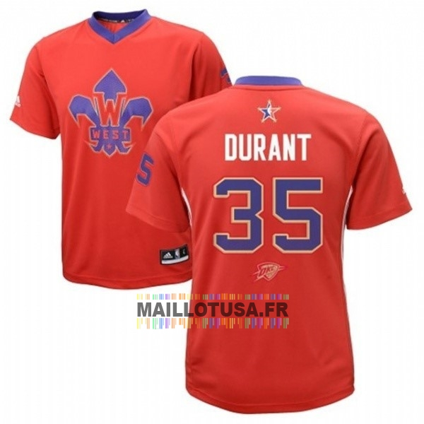 Maillot NBA Pas Cher - Maillot NBA 2014 All Star NO.35 Kevin Durant Rouge