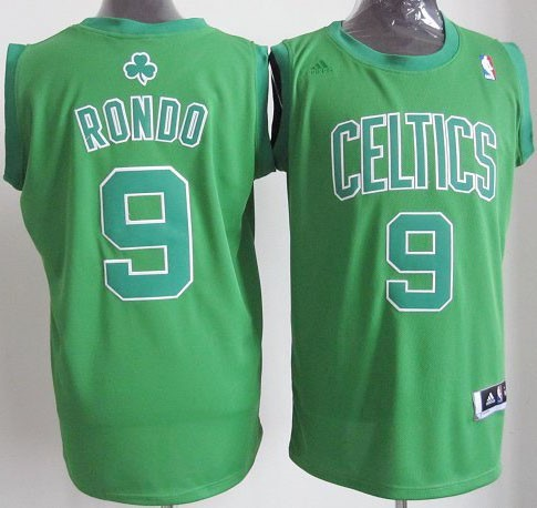 Maillot NBA Pas Cher - Maillot NBA Boston Celtics 2012 Noël NO.9 Rondo Veder