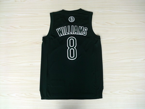 Maillot NBA Pas Cher - Maillot NBA Brooklyn Nets 2012 Noël NO.8 Williams Noir