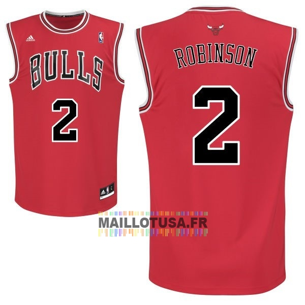 Maillot NBA Pas Cher - Maillot NBA Chicago Bulls NO.2 Nate Robinson Rouge