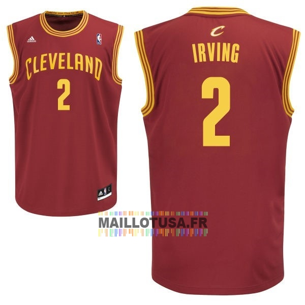 Maillot NBA Pas Cher - Maillot NBA Cleveland Cavaliers NO.2 Kyrie Irving Rouge