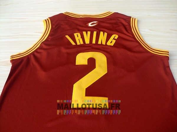 df3050783ccd5 ... Maillot NBA Pas Cher - Maillot NBA Cleveland Cavaliers NO.2 Kyrie Irving  Rouge ...