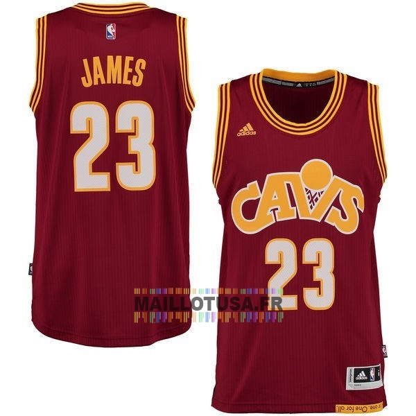 Maillot NBA Pas Cher - Maillot NBA Cleveland Cavaliers NO.23 LeBron James 2015-2016 Rouge