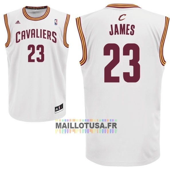 Maillot NBA Pas Cher - Maillot NBA Cleveland Cavaliers NO.23 LeBron James Blanc