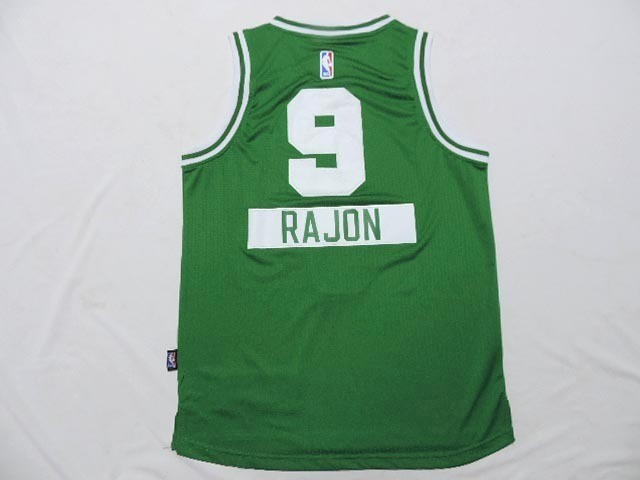 Maillot NBA Pas Cher - Maillot NBA Enfant 2014 Noël Boston Celtics NO.9 Rajon Vert