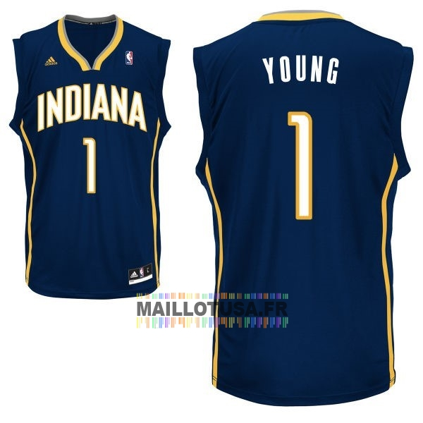 Maillot NBA Pas Cher - Maillot NBA Indiana Pacers NO.1 Lance Stephenson Noir