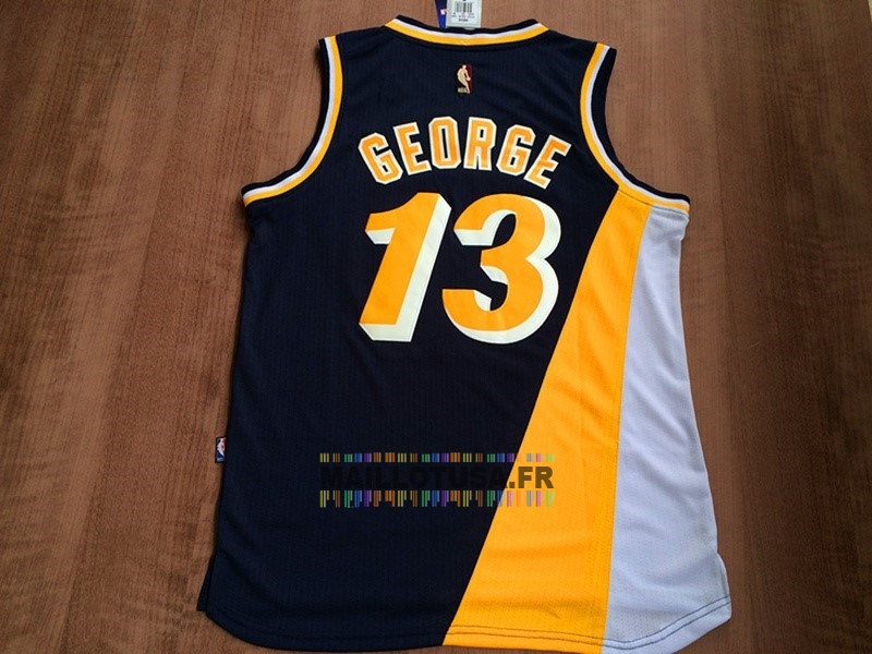 Maillot NBA Pas Cher - Maillot NBA Indiana Pacers NO.13 Paul George Retro Noir