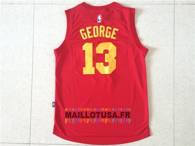 Maillot NBA Pas Cher - Maillot NBA Indiana Pacers NO.13 Paul George Rouge