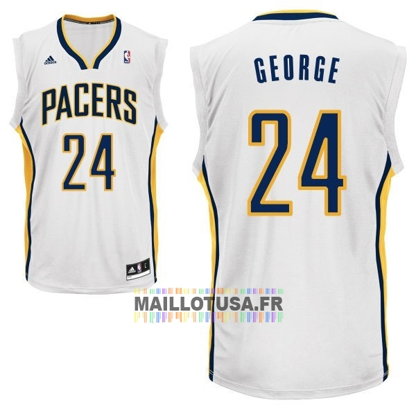 Maillot NBA Pas Cher - Maillot NBA Indiana Pacers NO.24 Paul George Blanc