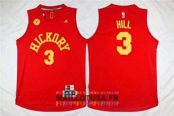 Maillot NBA Pas Cher - Maillot NBA Indiana Pacers NO.3 George Hill Rouge
