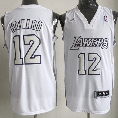 Maillot NBA Pas Cher - Maillot NBA Los Angeles Lakers 2012 Noël NO.12 Howard Blanc