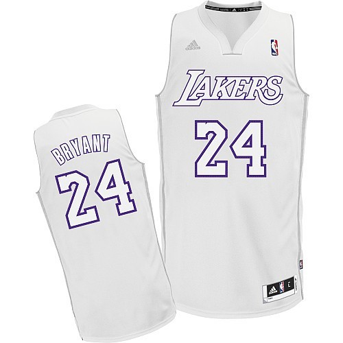 Maillot NBA Pas Cher - Maillot NBA Los Angeles Lakers 2012 Noël NO.24 Bryant Blanc