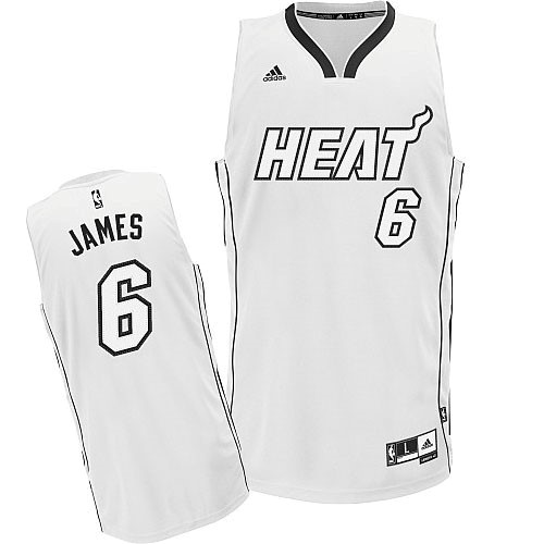 Maillot NBA Pas Cher - Maillot NBA Miami Heat 2012 Noël NO.6 James Blanc