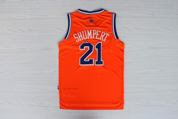 Maillot NBA Pas Cher - Maillot NBA New York Knicks 2012 Noël NO.21 Shumpert Orange