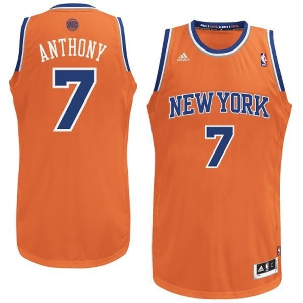 Maillot NBA Pas Cher - Maillot NBA New York Knicks 2012 Noël NO.7 Anthony Orange