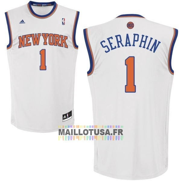 Maillot NBA Pas Cher - Maillot NBA New York Knicks NO.1 Amar'e Stoudemire Blanc