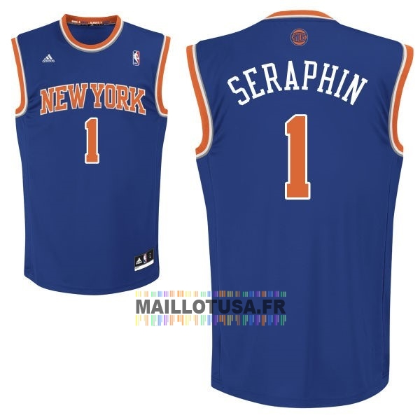 Maillot NBA Pas Cher - Maillot NBA New York Knicks NO.1 Amar'e Stoudemire Bleu