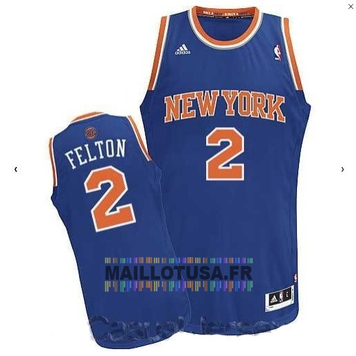 Maillot NBA Pas Cher - Maillot NBA New York Knicks NO.2 Raymond Felton Bleu