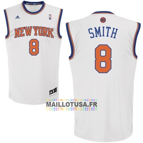 Maillot NBA Pas Cher - Maillot NBA New York Knicks NO.8 J.R.Smith Blanc