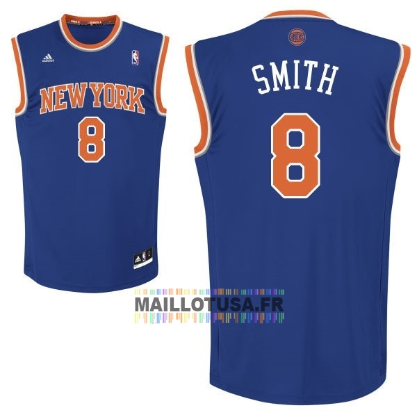Maillot NBA Pas Cher - Maillot NBA New York Knicks NO.8 J.R.Smith Bleu