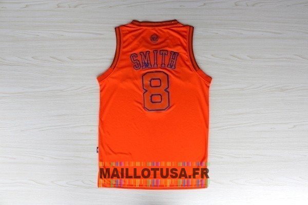 Maillot NBA Pas Cher - Maillot NBA New York Knicks NO.8 J.R.Smith Orange