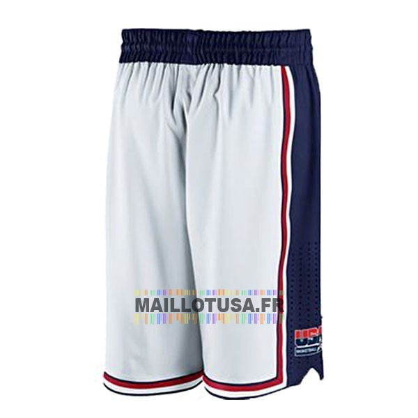 Maillot NBA Pas Cher - Short Basket 1992 USA Blanc