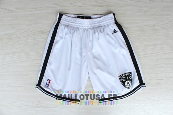 Maillot NBA Pas Cher - Short Basket Brooklyn Nets Blanc
