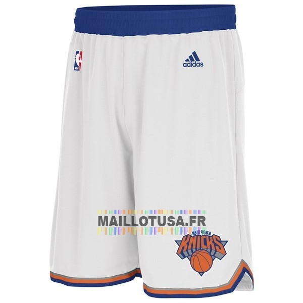 Maillot NBA Pas Cher - Short Basket New York Knicks Blanc