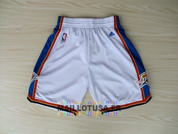 Maillot NBA Pas Cher - Short Basket Oklahoma City Thunder Blanc