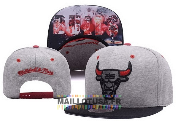 Maillot NBA Pas Cher - Bonnet 2017 Chicago Bulls Gris NO.01