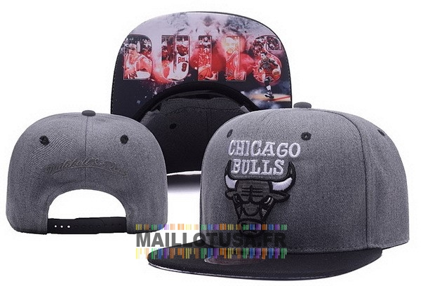 Maillot NBA Pas Cher - Bonnet 2017 Chicago Bulls Gris NO.03