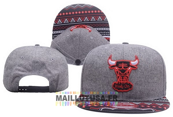 Maillot NBA Pas Cher - Bonnet 2017 Chicago Bulls Gris NO.04