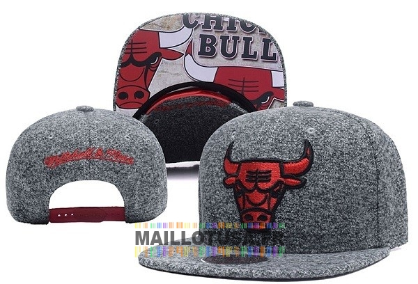 Maillot NBA Pas Cher - Bonnet 2017 Chicago Bulls Gris NO.06