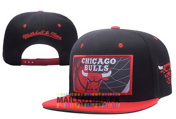 Maillot NBA Pas Cher - Bonnet 2017 Chicago Bulls Rouge Noir NO.02