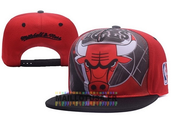 Maillot NBA Pas Cher - Bonnet 2017 Chicago Bulls Rouge Noir NO.05