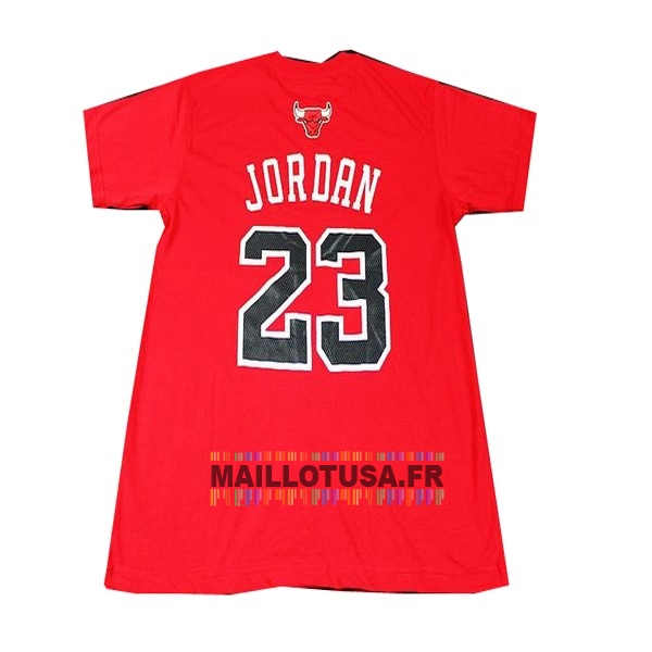 Maillot NBA Pas Cher - Maillot NBA Chicago Bulls Manche Courte NO.23 Rouge